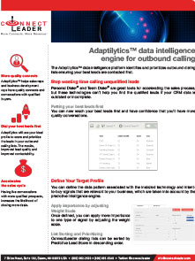 Adaptalytics Data Sheet